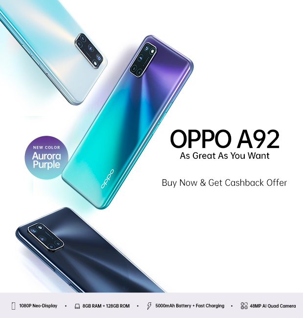 OPPO A92 As Great As You Want